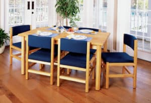 Classic Dining Table and Chairs in Dining Room